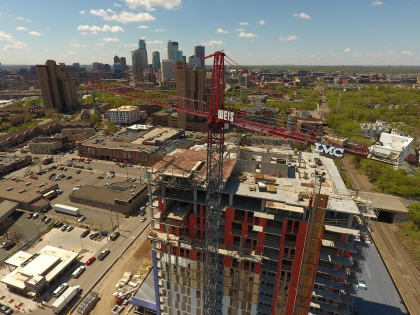 LMC Announces Topping Off of NordHaus Apartments